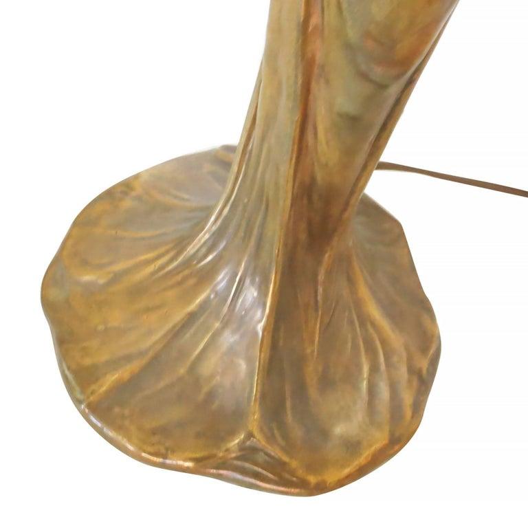 Pair of Bronze Art Nouveau Style Figural Female Candelabra Lamp For Sale 2