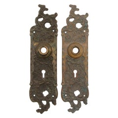 Pair of Bronze Back Plates Rococo Style by Reading Hardware Co.