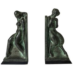 Pair of Bronze Bookends from 1919 by Axel Gute