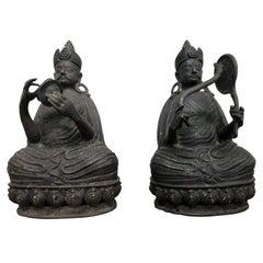 Pair of Bronze Buddha Statues