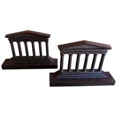 Pair of Bronze Columns / Parthenon Bookends