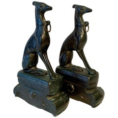 Pair of Bronze Doberman Pincher Dog Bookends
