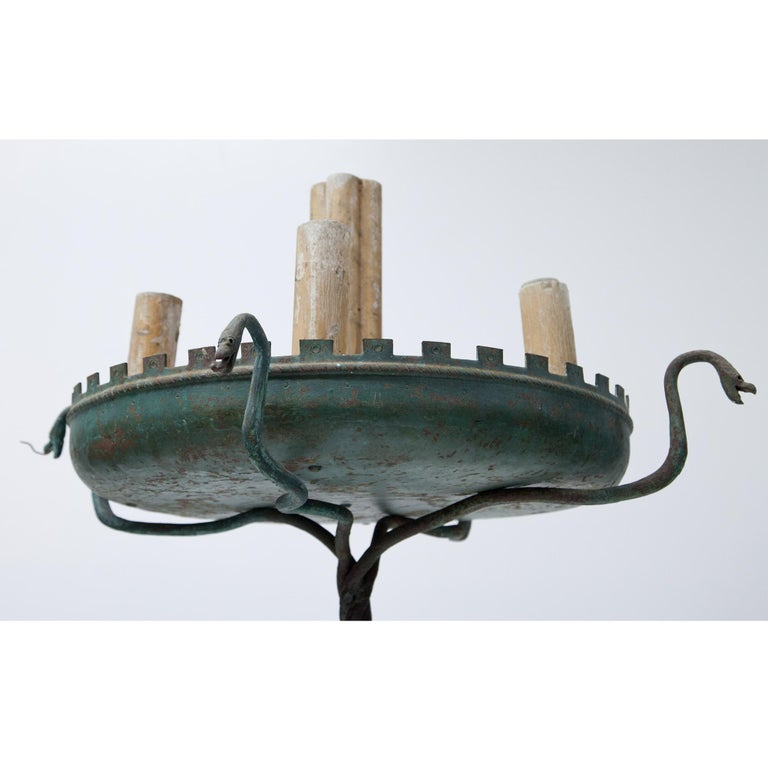 Italian Pair of Bronze Floor Lamps, Italy, 1930-1940 For Sale