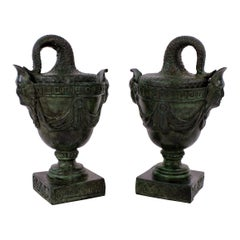 Pair of Bronze Grand Tour Tazzas