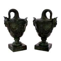 Pair of Bronze Grand Tour Tazzas