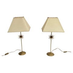 Pair of Bronze Lamp Attributed to Fondica