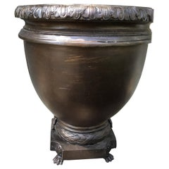 Pair of Bronze Large Scale Neoclassical Planters