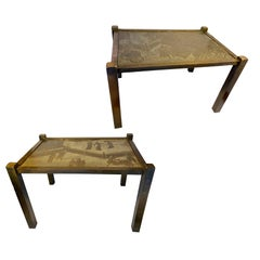 Pair of Bronze Laverne Side Tables