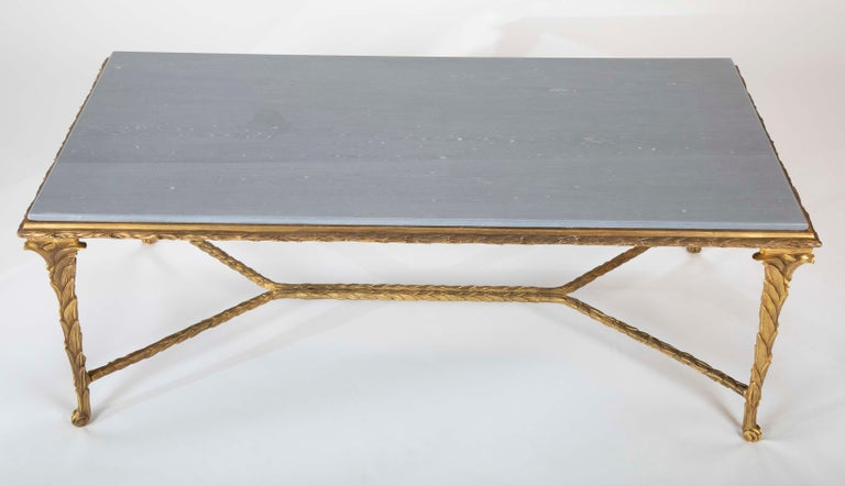 Mid-20th Century Pair of Bronze Maison Charles Coffee Tables For Sale