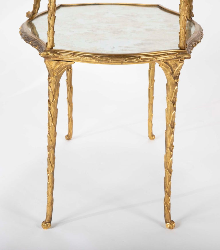 Pair of Bronze Maison Charles Side Tables For Sale 7