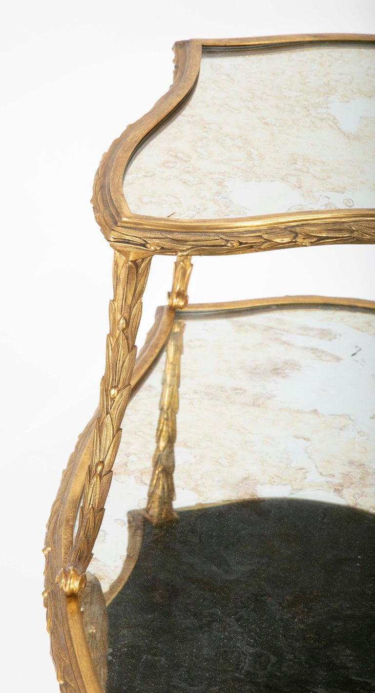 Pair of Bronze Maison Charles Side Tables For Sale 8