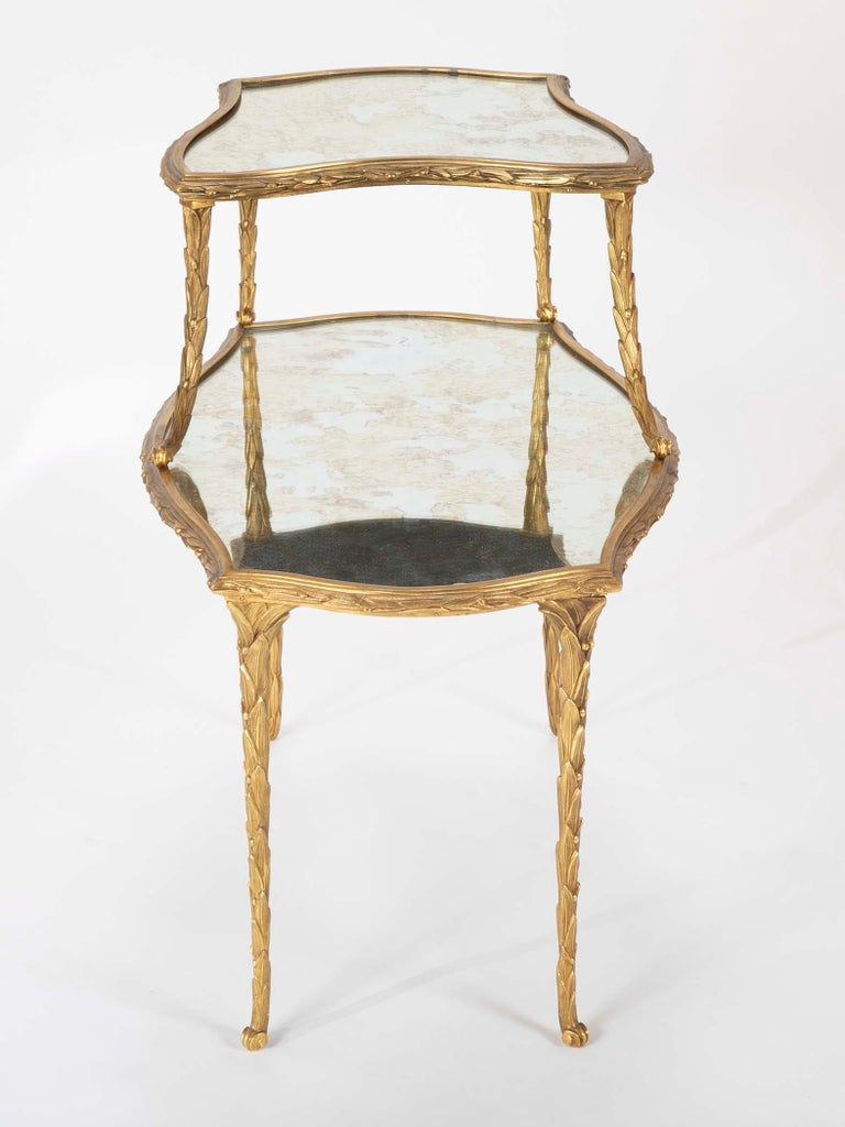 Pair of Bronze Maison Charles Side Tables In Good Condition For Sale In Stamford, CT