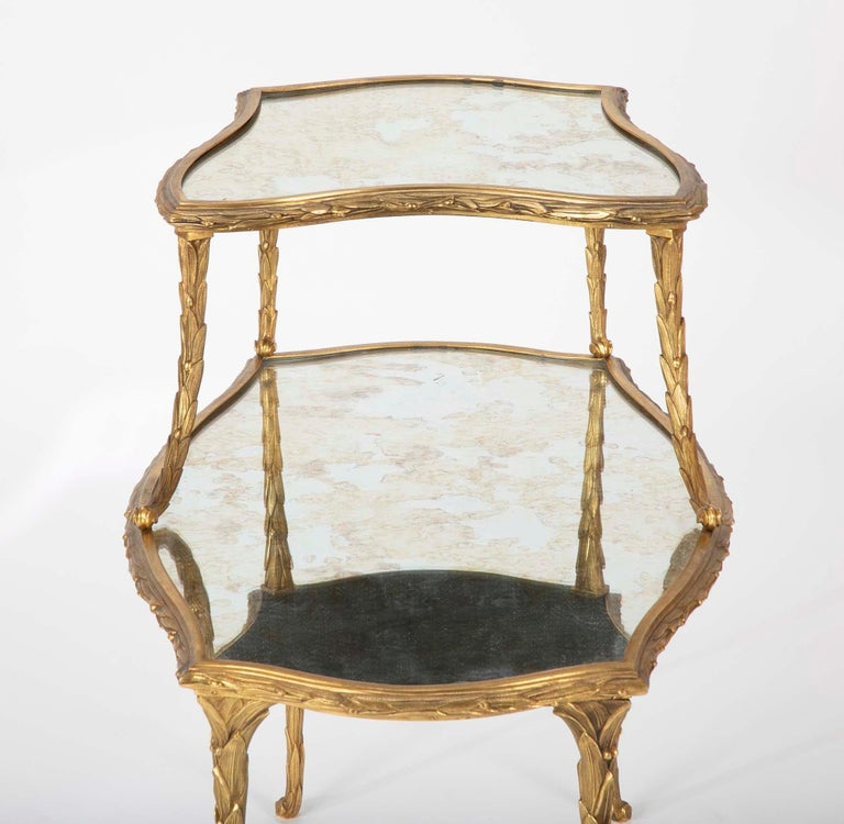 Pair of Bronze Maison Charles Side Tables For Sale 1