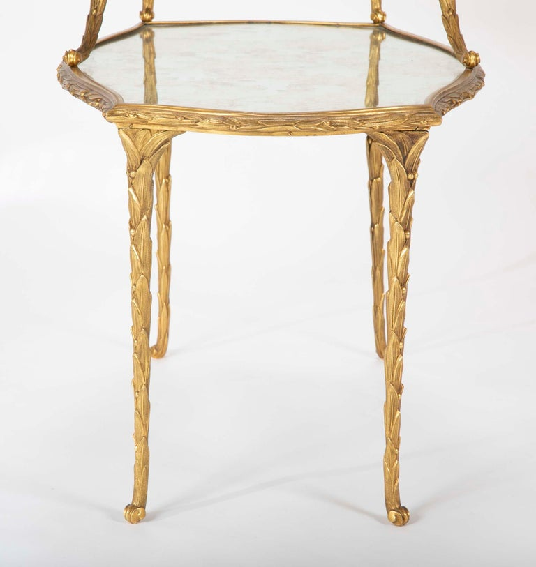 Pair of Bronze Maison Charles Side Tables For Sale 2