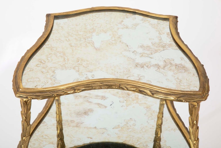 Pair of Bronze Maison Charles Side Tables For Sale 3