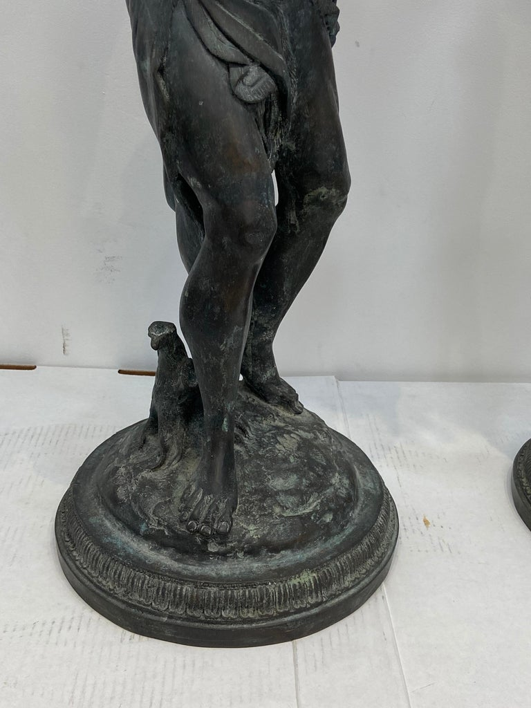 Pair of Bronze Maitland Smith Figures In Good Condition For Sale In West Palm Beach, FL
