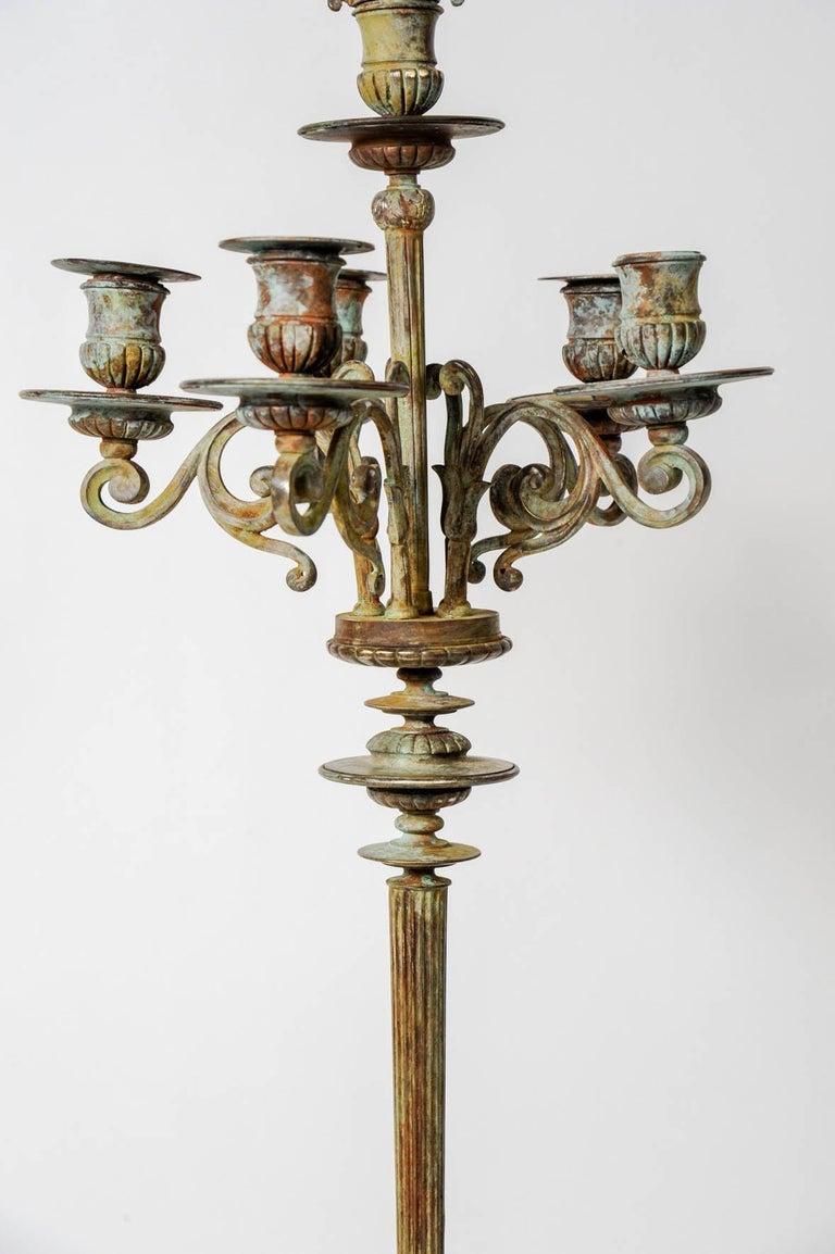 Pair of Bronze Neo Antique Candlesticks In Excellent Condition For Sale In Paris Saint Ouen, FR
