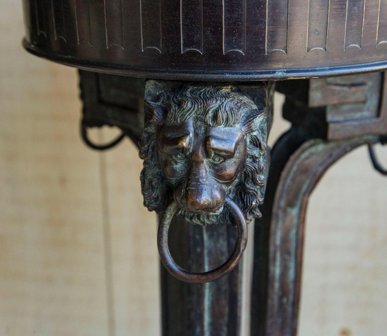 Cast Pair of Bronze Pedestals For Sale