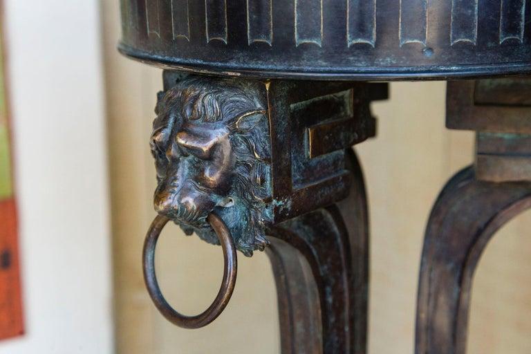 20th Century Pair of Bronze Pedestals For Sale