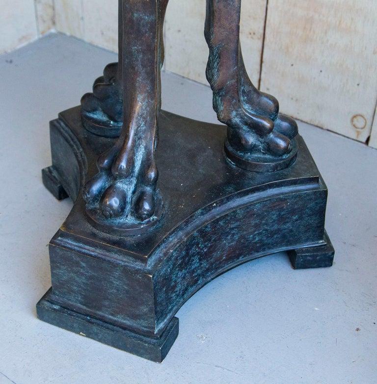 Pair of Bronze Pedestals For Sale 1