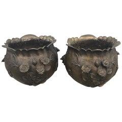 Pair of Bronze Planters or Jardinières