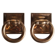Pair of Bronze Ring Door Handles
