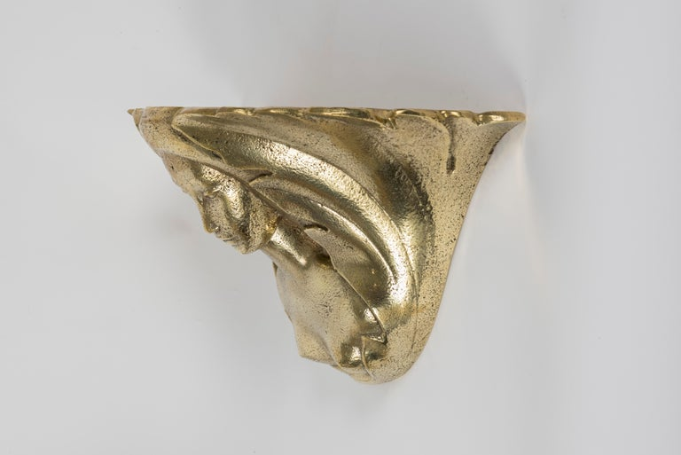 Pair of Bronze Sconces by Riccardo Scarpa In Good Condition For Sale In Bois-Colombes, FR
