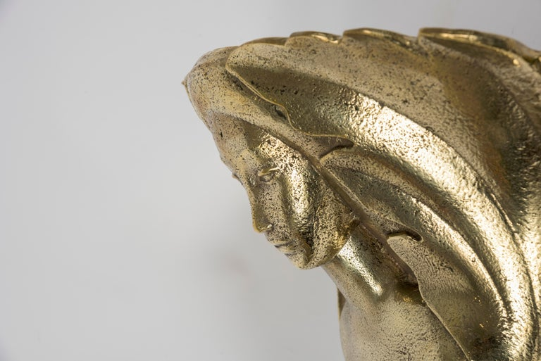 Mid-20th Century Pair of Bronze Sconces by Riccardo Scarpa For Sale
