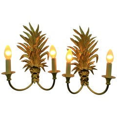 Pair of  Bronze Sconces Signed by Maison Charles & Fils, France, circa 1950