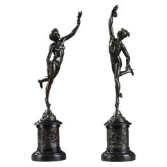 Pair of Bronze Sculptures after Jean De Bologne Fortune and Mercury