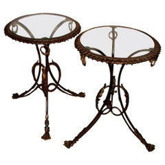Pair of Bronze Side Tables, Sold Individually