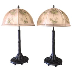 Pair of Bronze Table Lamps by Theodore Alexander