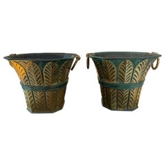 Pair of Bronze Vases