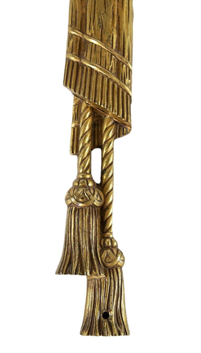 Pair of Bronze Wall Light Sconces In Good Condition For Sale In Vilnius, LT