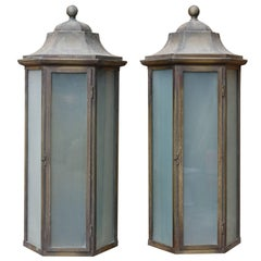 Pair of Bronze Wall Lights