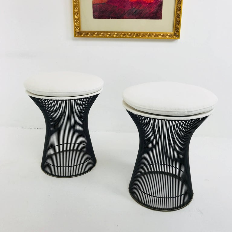 20th Century Pair of Bronze Warren Platner Stools For Sale