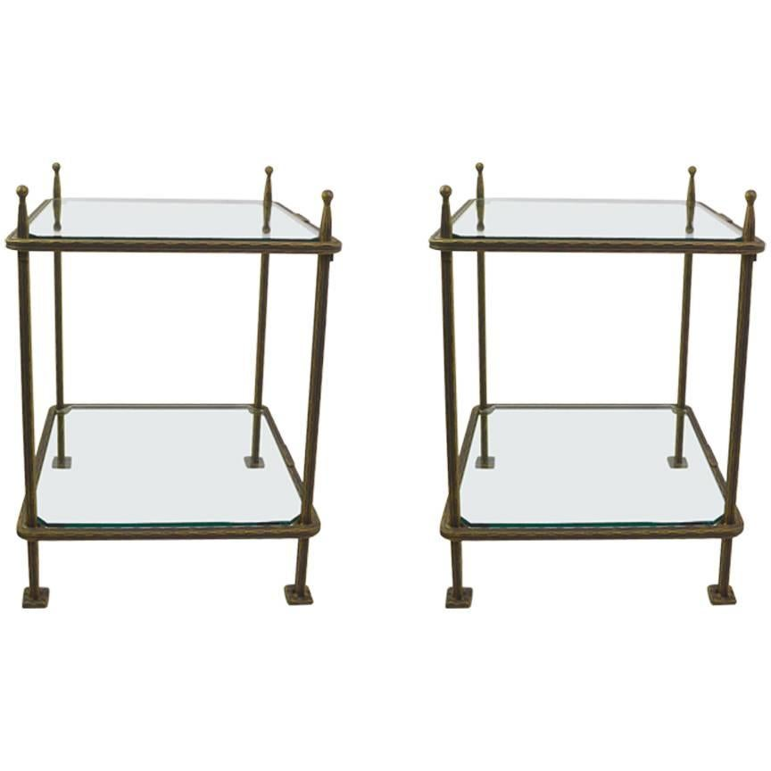 Claudio Rayes Wrought Iron /& Glass End Table