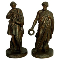 Pair of Bronzes Depicting Pericles and Phidias