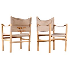 Pair of Bror Boije Safari Chairs for DUX, 1960s