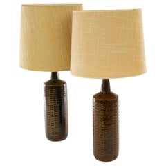 Pair of Brown DL/27 Table Lamps by Linnemann-Schmidt for Palshus, 1960s