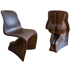 """Pair of Brown """"Her"""" Chairs by Fabio Novembre"""