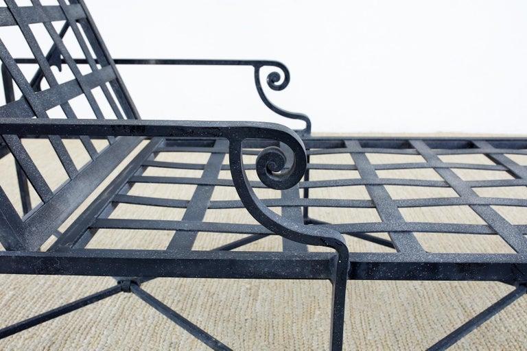 Pair of Brown Jordan Venetian Aluminum Chaise Lounges For Sale 4