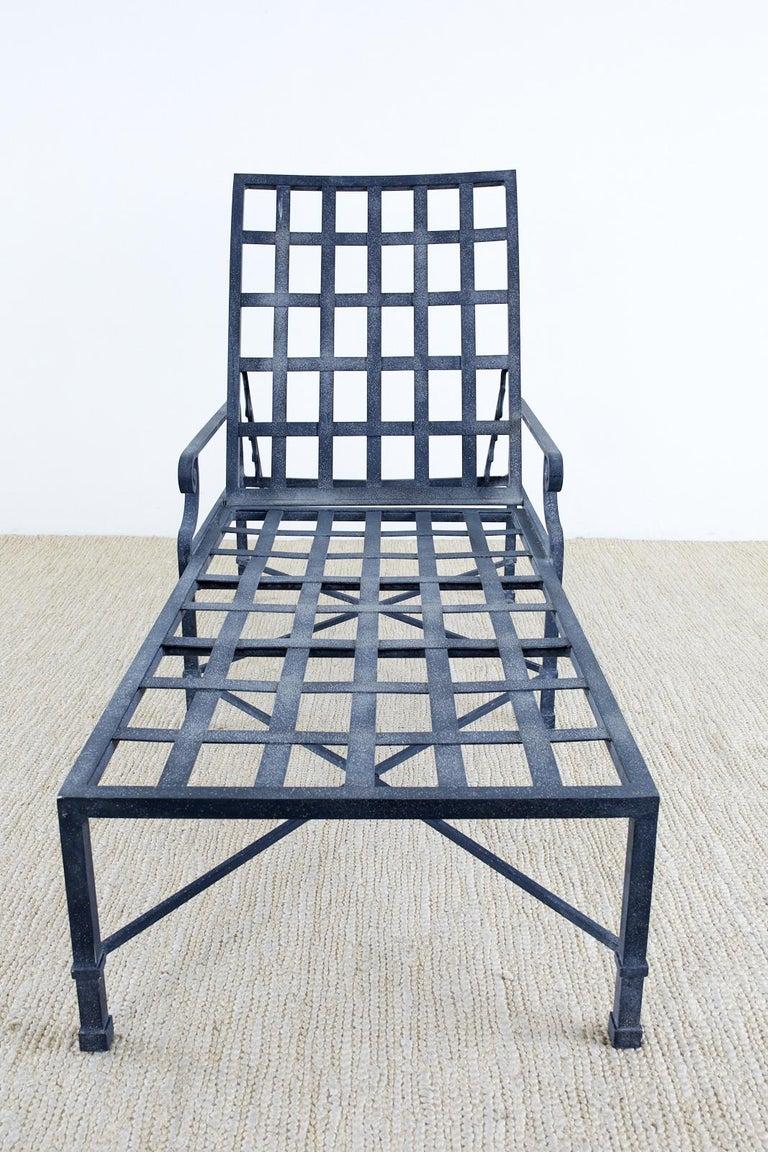 Pair of Brown Jordan Venetian Aluminum Chaise Lounges For Sale 6