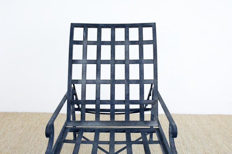 Pair of Brown Jordan Venetian Aluminum Chaise Lounges For Sale 7