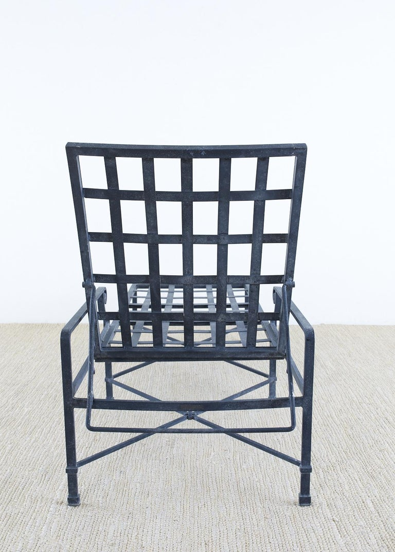 Pair of Brown Jordan Venetian Aluminum Chaise Lounges For Sale 9