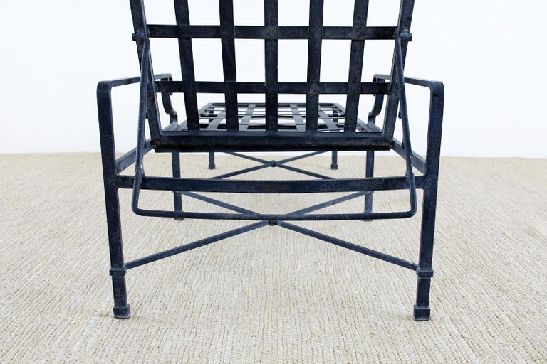 Pair of Brown Jordan Venetian Aluminum Chaise Lounges For Sale 10