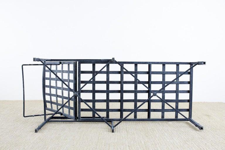 Pair of Brown Jordan Venetian Aluminum Chaise Lounges For Sale 12