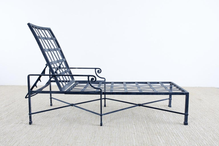 Neoclassical Pair of Brown Jordan Venetian Aluminum Chaise Lounges For Sale