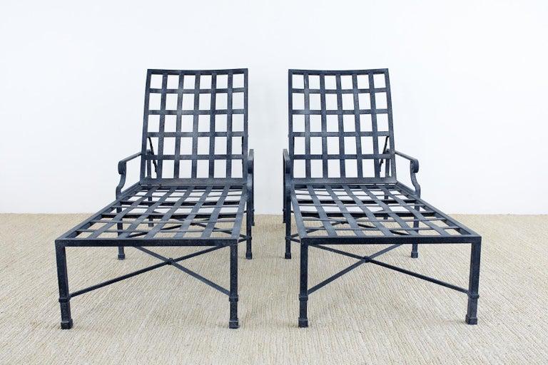 American Pair of Brown Jordan Venetian Aluminum Chaise Lounges For Sale