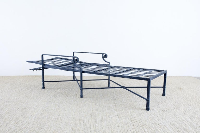 Contemporary Pair of Brown Jordan Venetian Aluminum Chaise Lounges For Sale